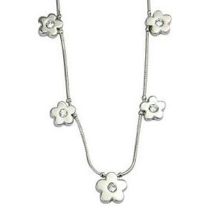 Lia Sophia Wallflower Cut Crystal Necklace